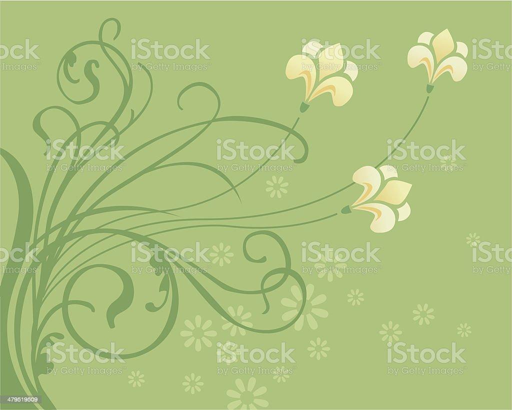 Spring swirls royalty-free stock vector art