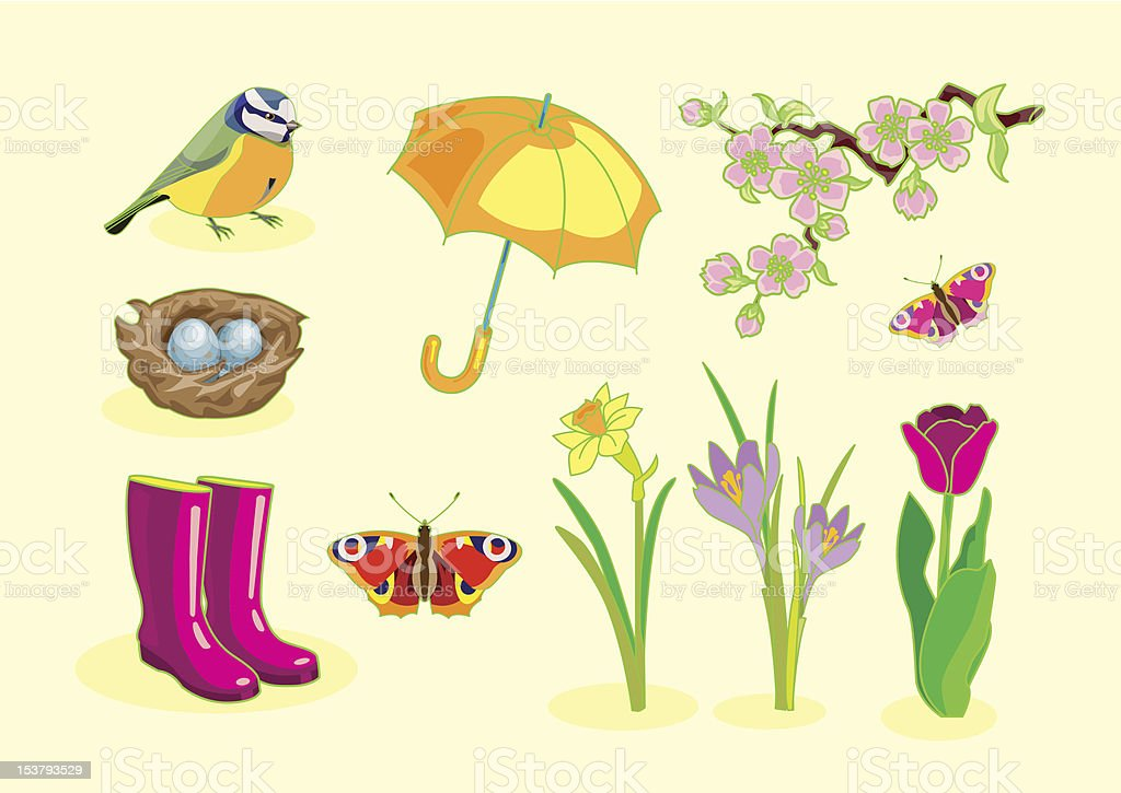 Spring Symbols royalty-free stock vector art