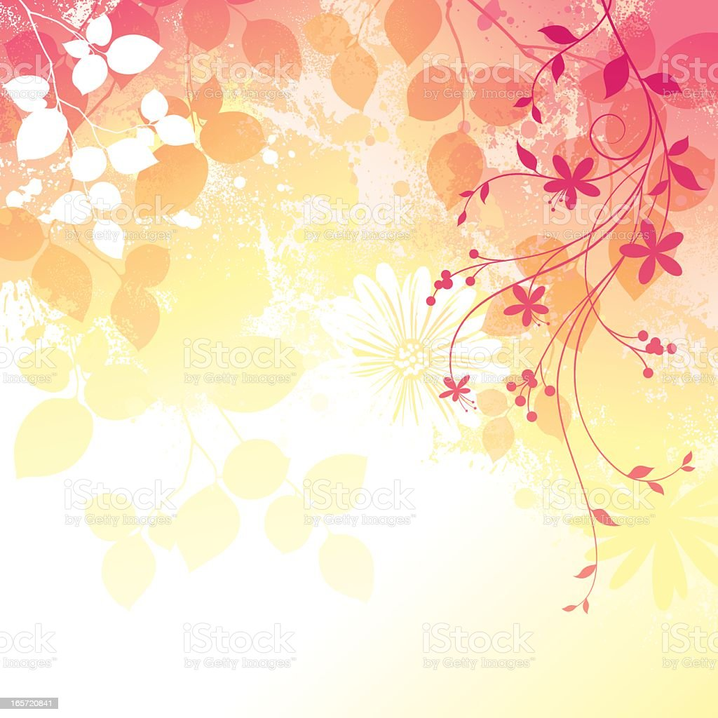 Spring themed red floral background royalty-free stock vector art