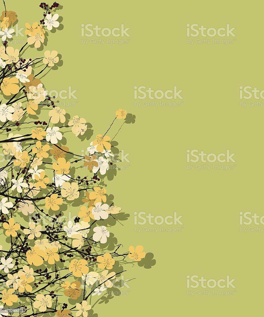 Spring time theme postcard royalty-free stock vector art