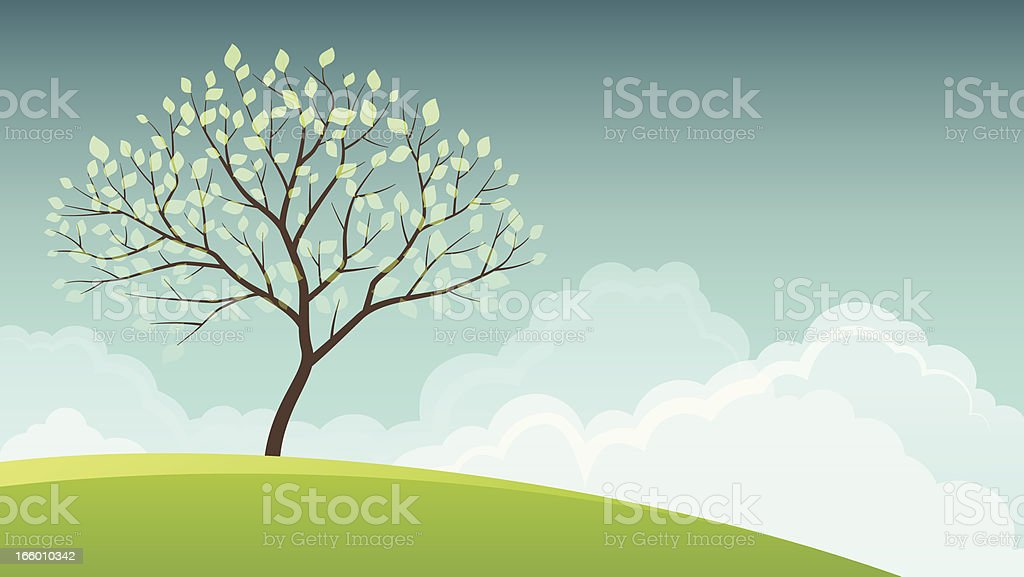 Spring Tree royalty-free stock vector art
