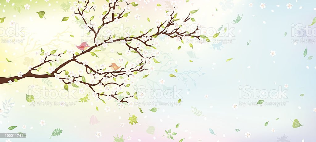 Spring tree vector art illustration