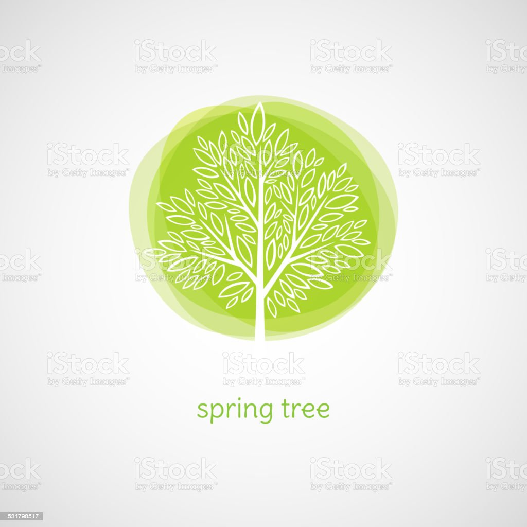 Spring Tree. Vector illustration vector art illustration