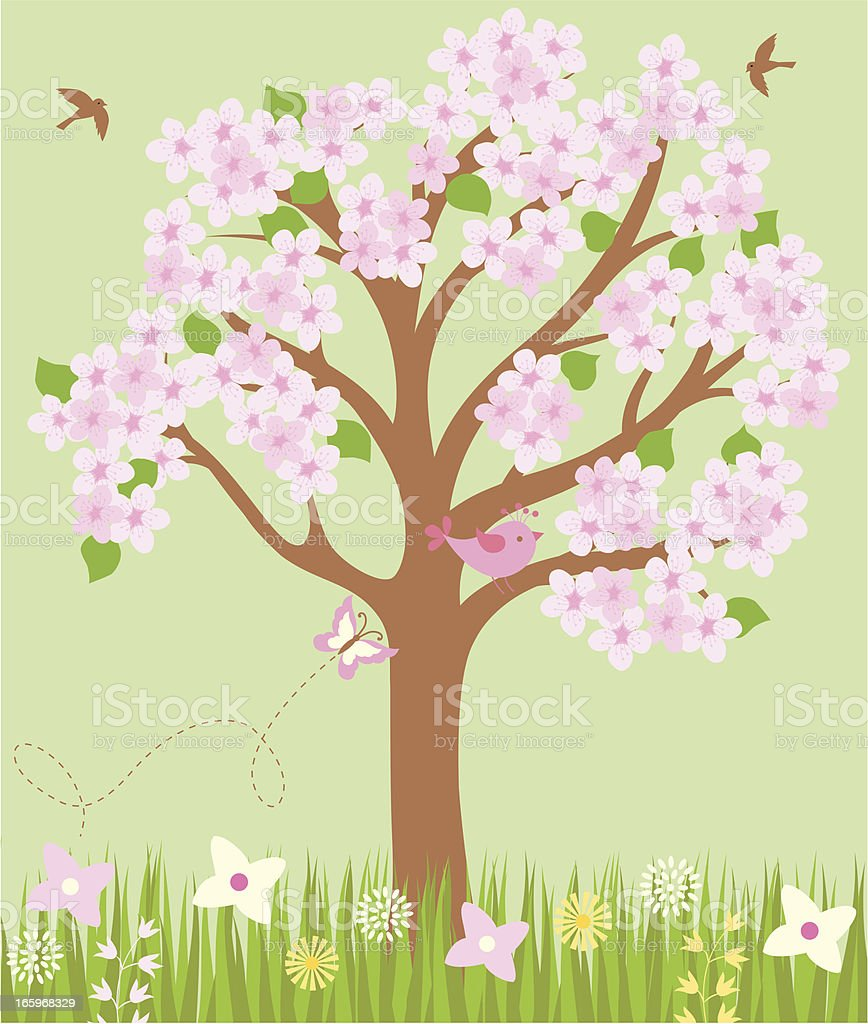 Spring vector background . royalty-free stock vector art