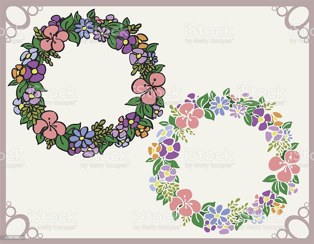 Spring Wreath vector art illustration