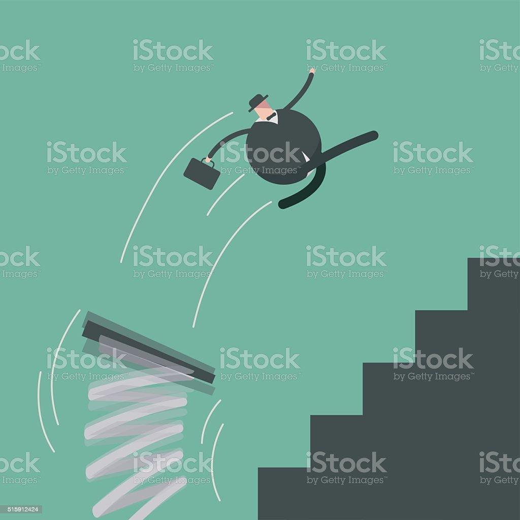 springboard vector art illustration