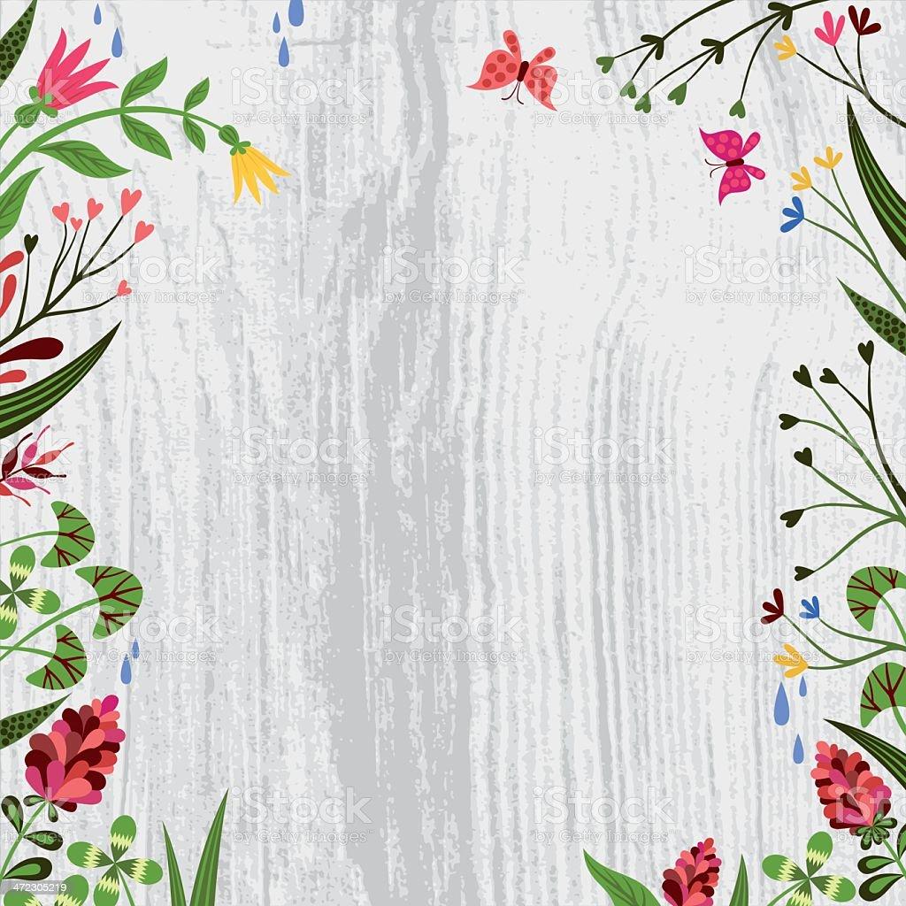 Spring-Sommer Flowers Design. vector art illustration