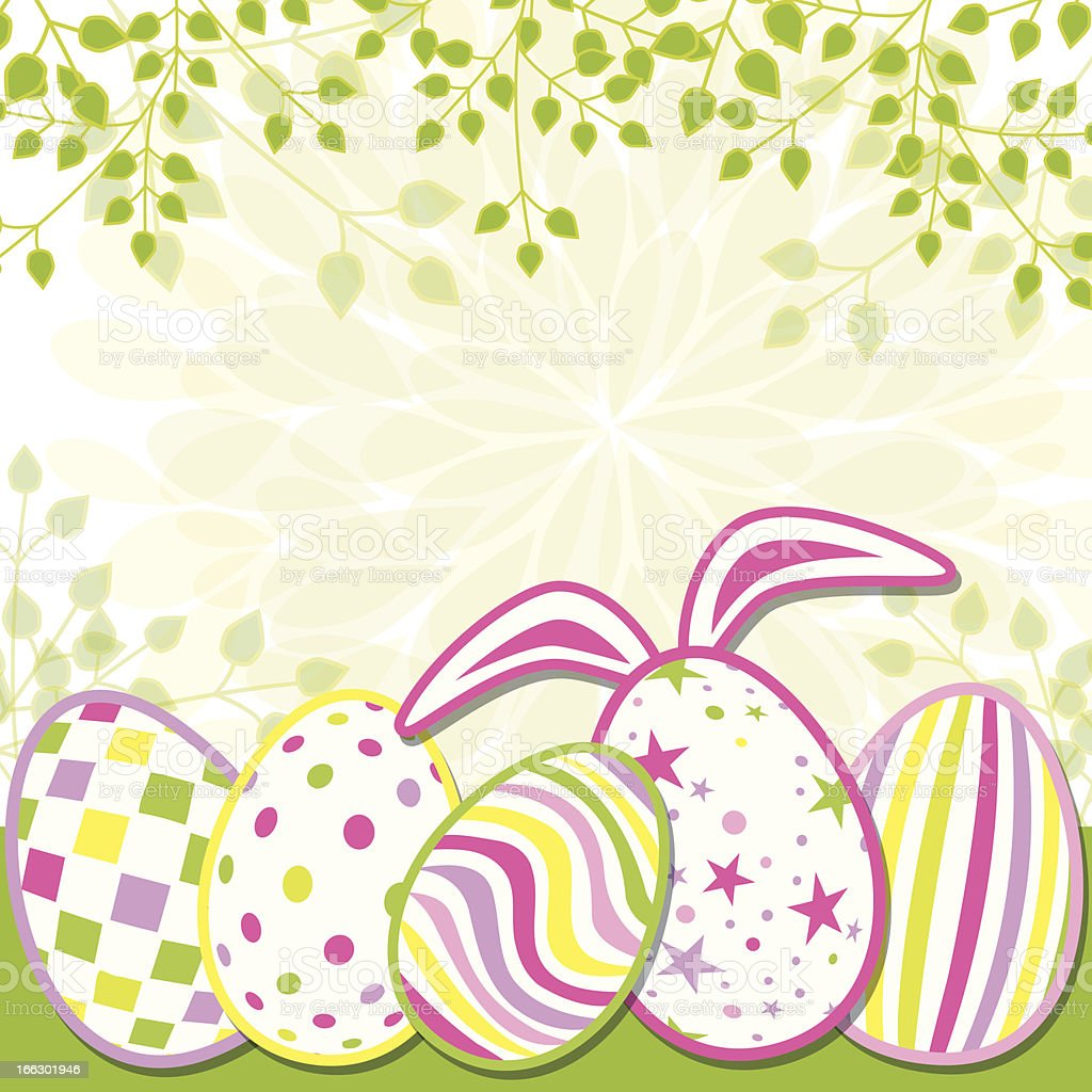 Springtime Easter Holiday Greeting Card royalty-free stock vector art