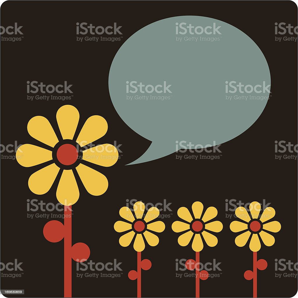 Springtime Pep Talk vector art illustration