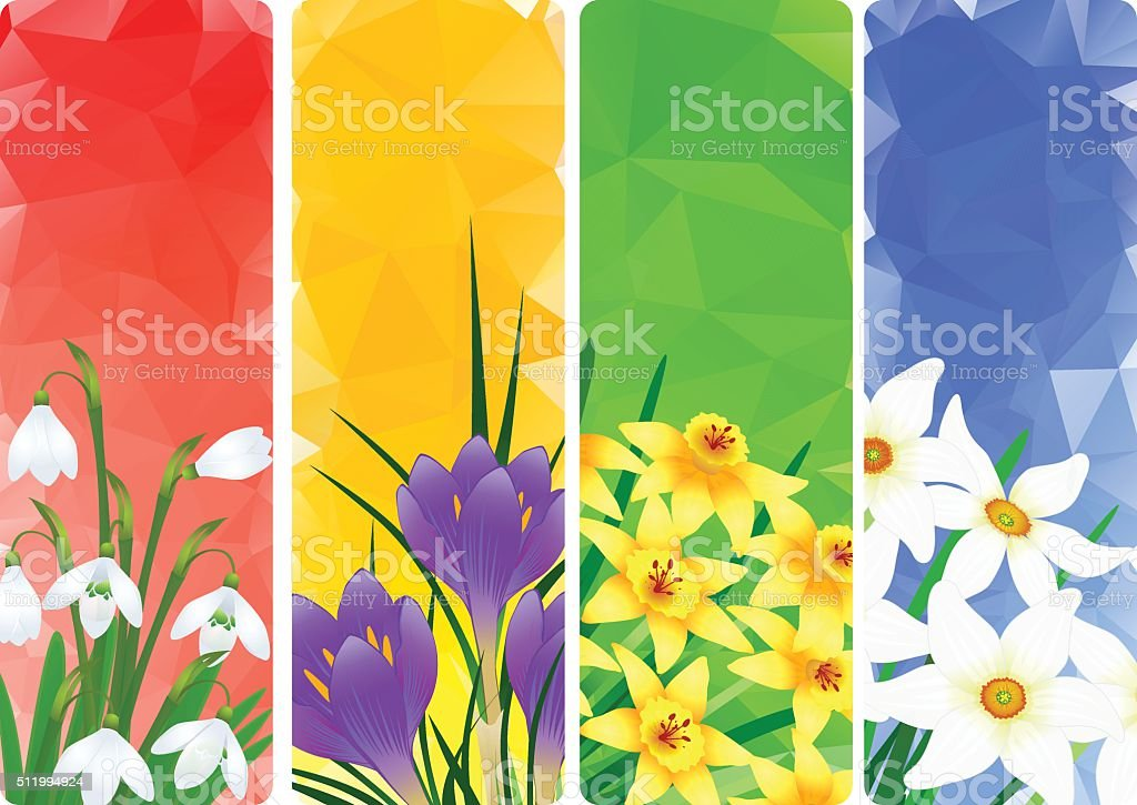 Springtime vector art illustration
