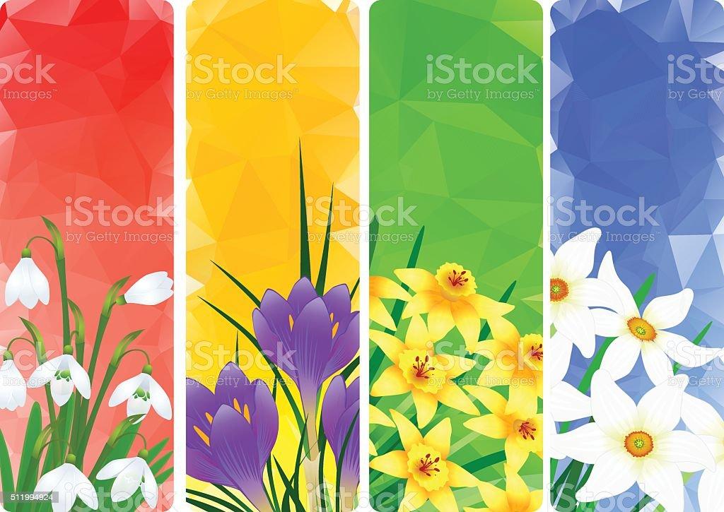 Springtime vector art illustration