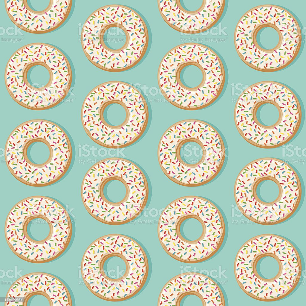 Sprinkle Donut Seamless Pattern royalty-free stock vector art