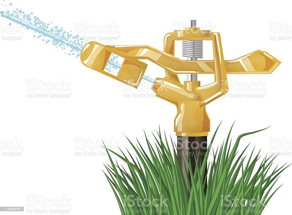 sprinkler vector art illustration