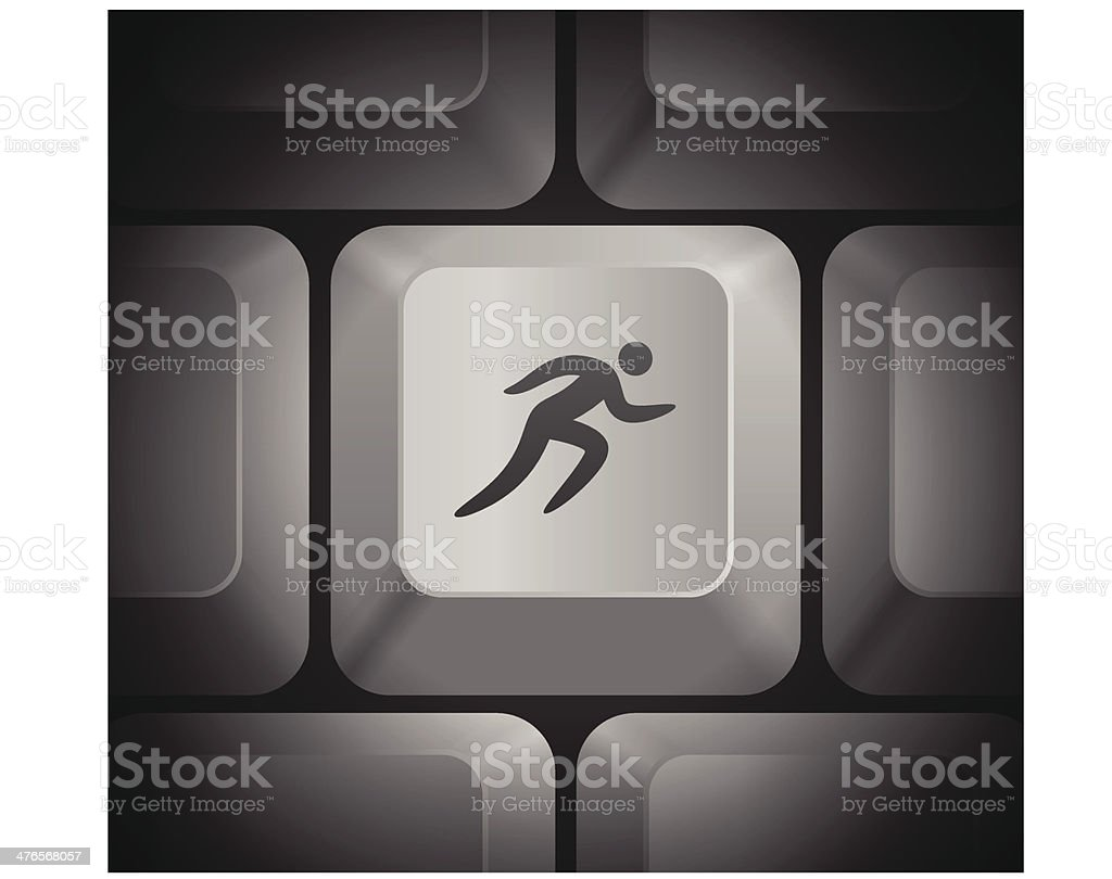 Sprint Icon on Computer Keyboard royalty-free stock vector art