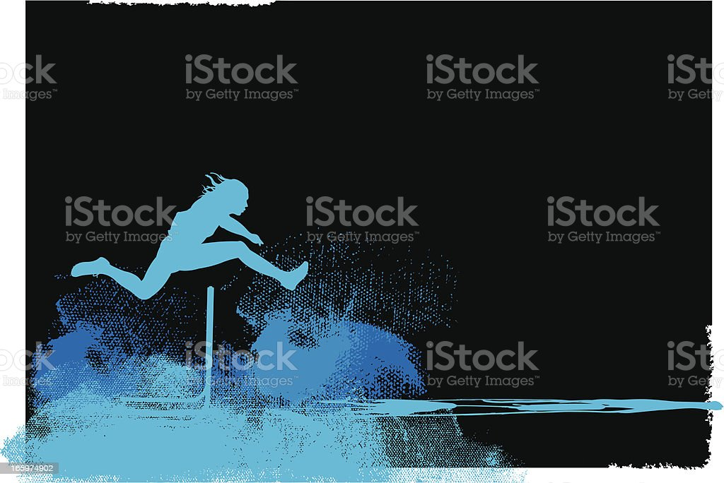 Sprint Track Event - Hurdler Background, Male royalty-free stock vector art