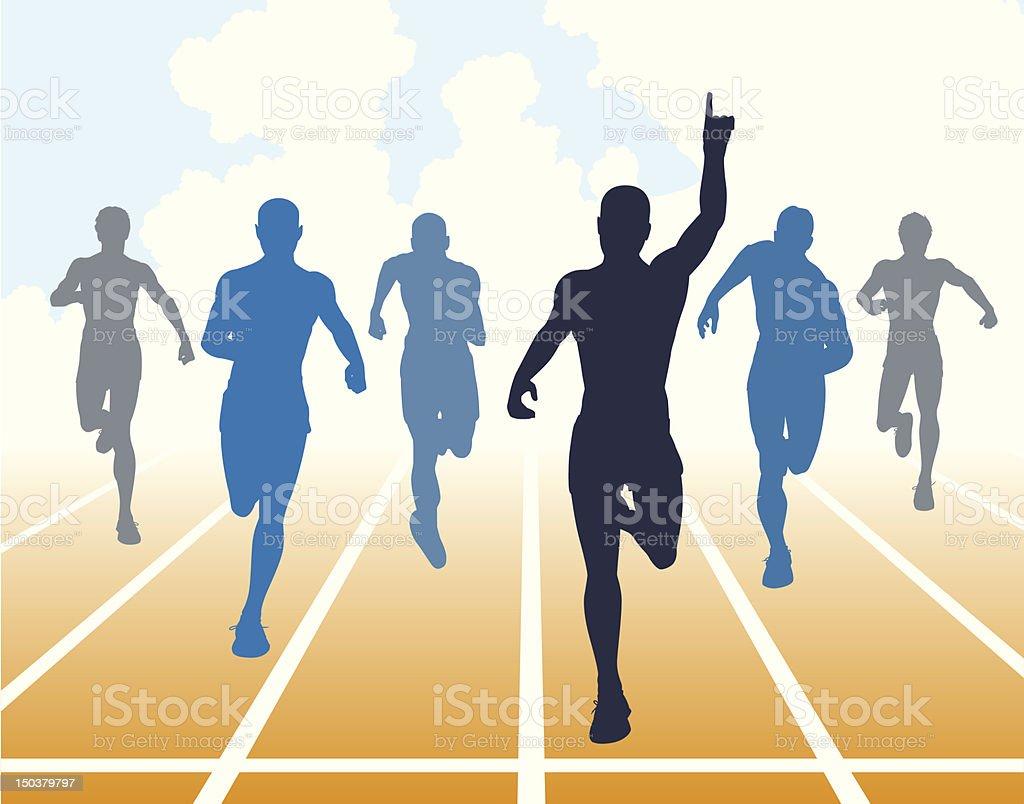 Sprint vector art illustration