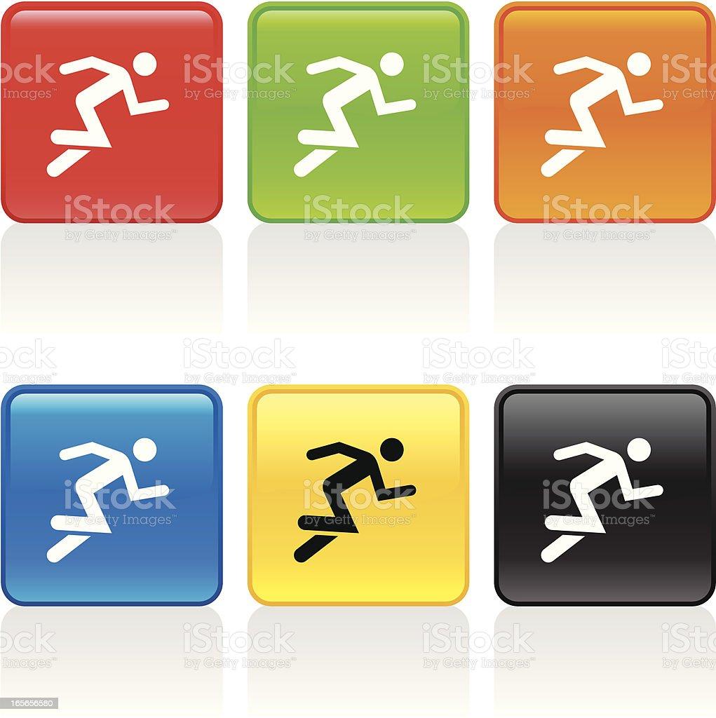 Sprinter Icon royalty-free stock vector art