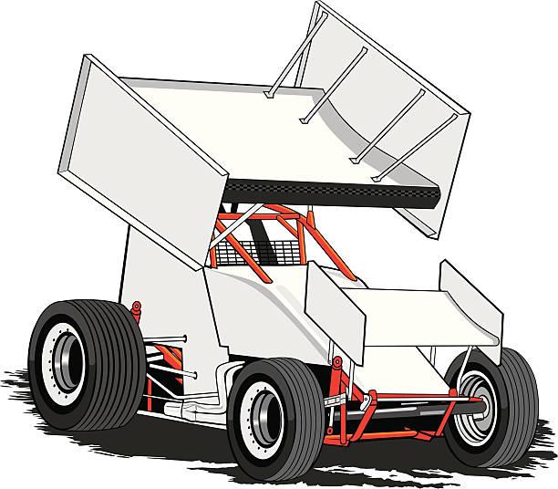 Sprint Car Race Clip Art, Vector Images & Illustrations - iStock