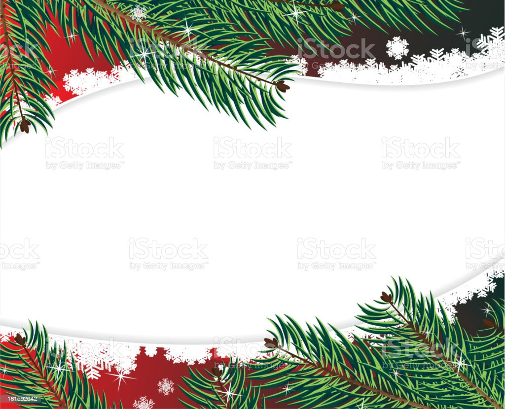 Spruce branches royalty-free stock vector art