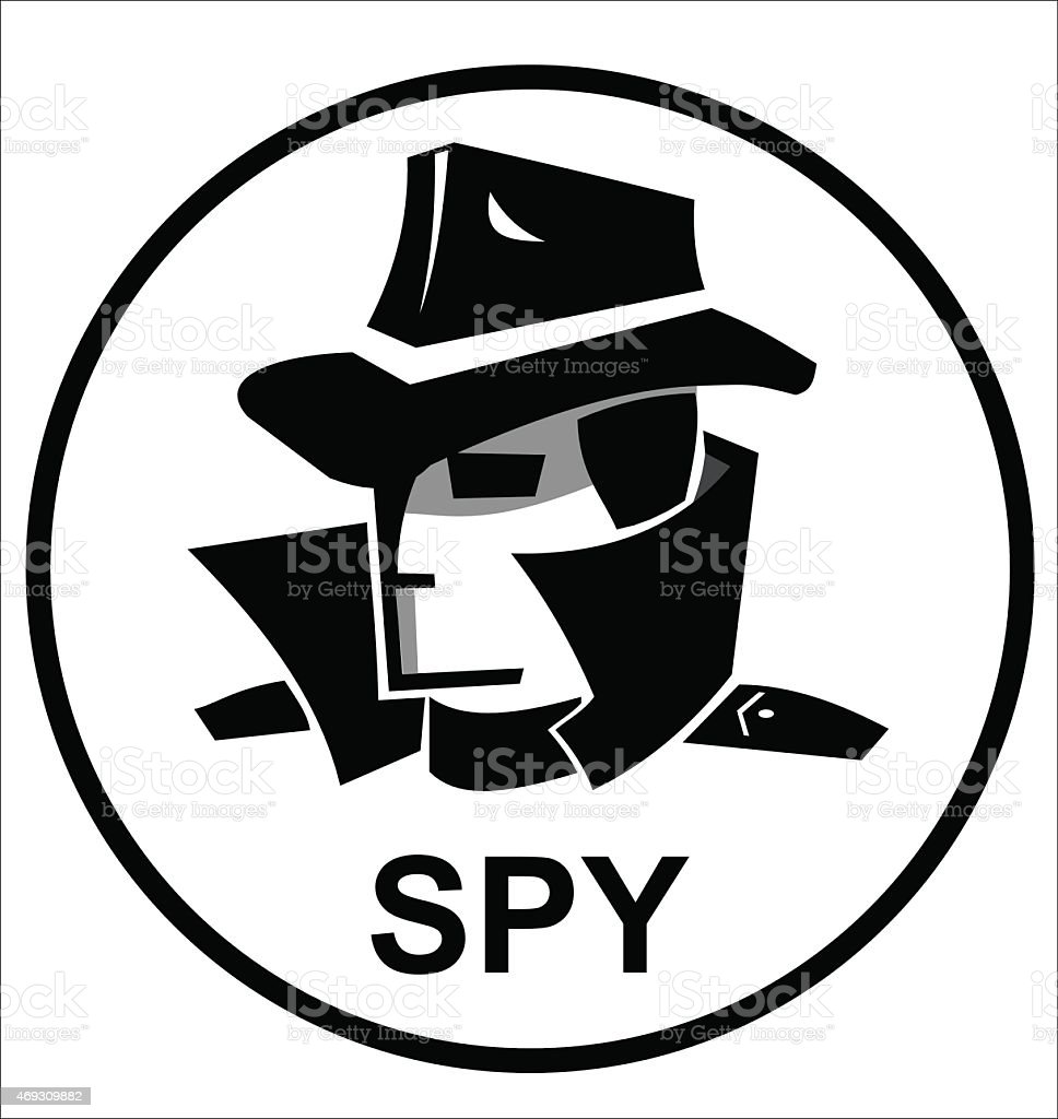 spy agent icon vector art illustration