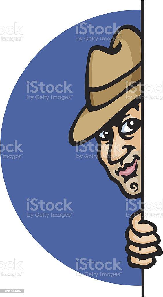 Spy Guy vector art illustration