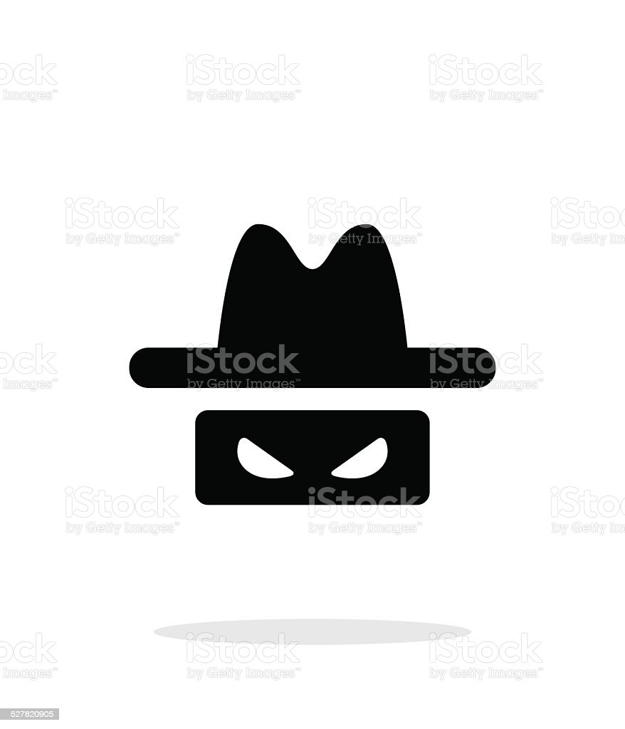 Spy icon on white background. vector art illustration