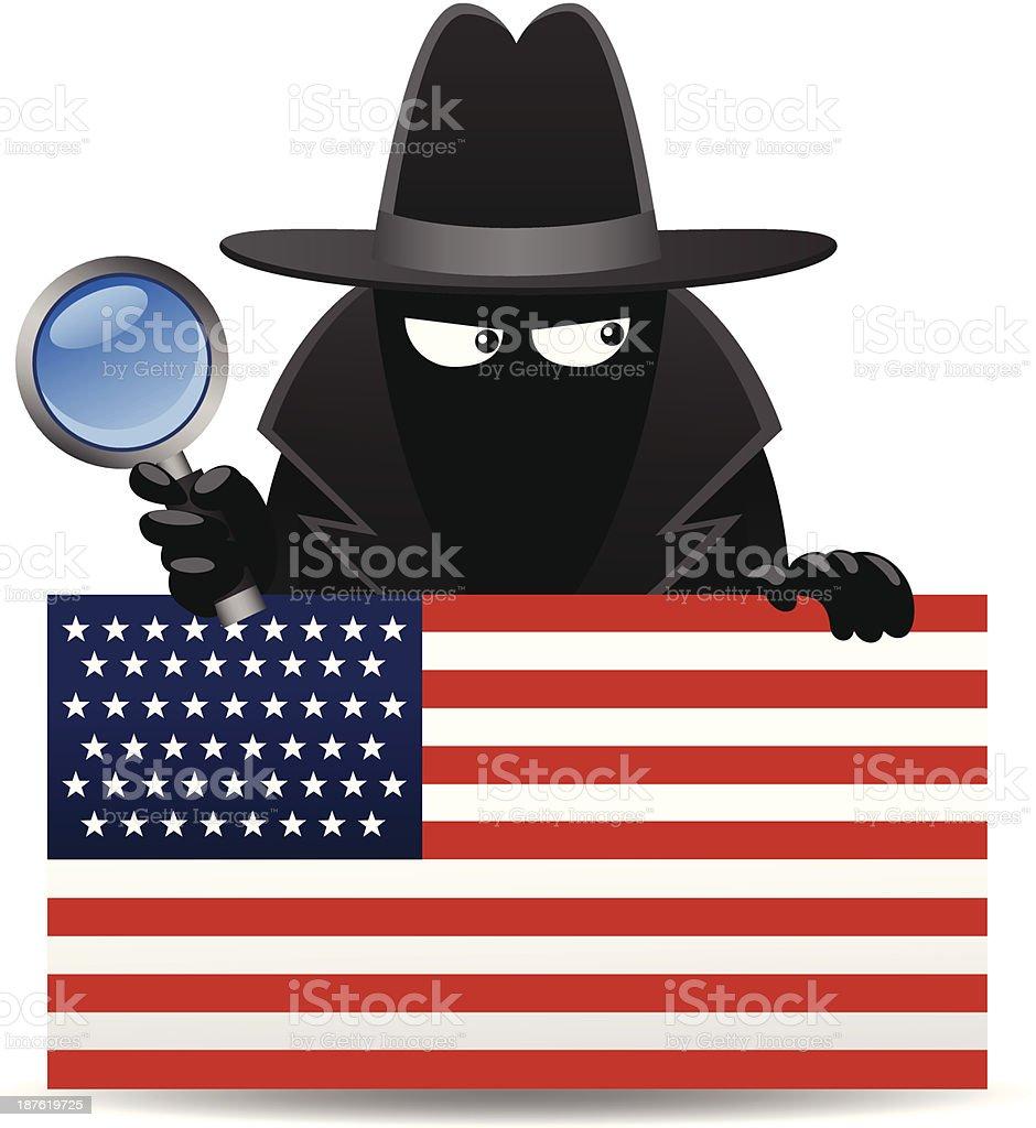 USA Spy royalty-free stock vector art