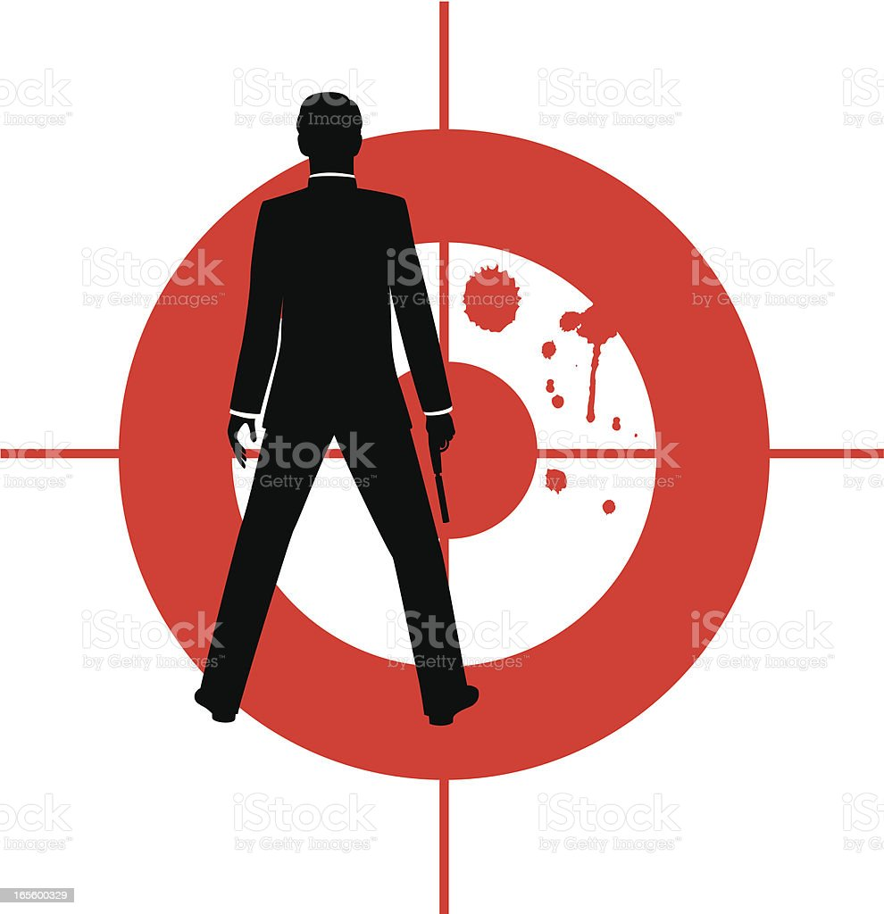 Spy with Target royalty-free stock vector art