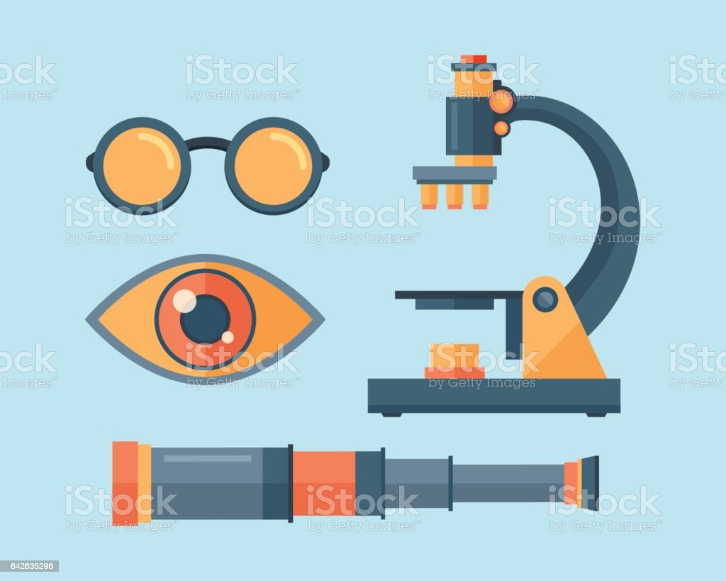 Spyglass telescope lens vector illustration vector art illustration