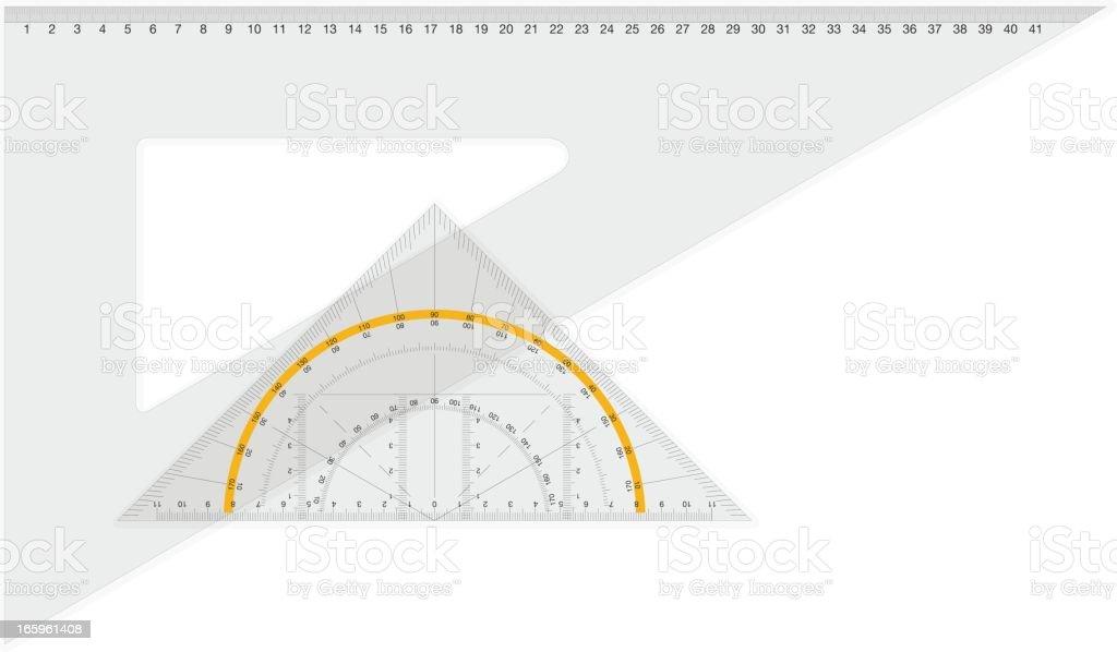 square and geodreieck vector art illustration