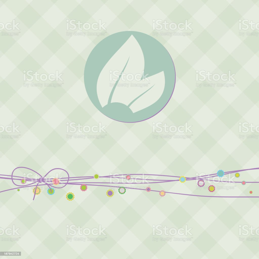Square banner with leaf. EPS 8 royalty-free stock vector art