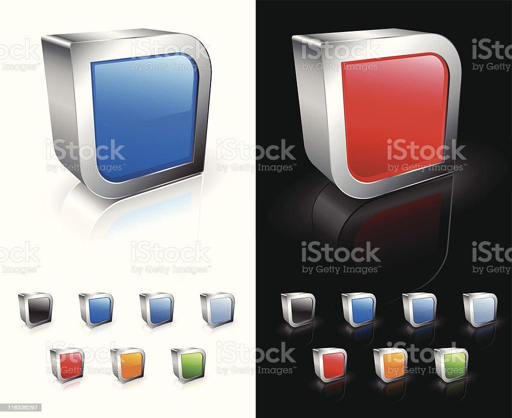 Square blank royalty free vector art royalty-free stock vector art