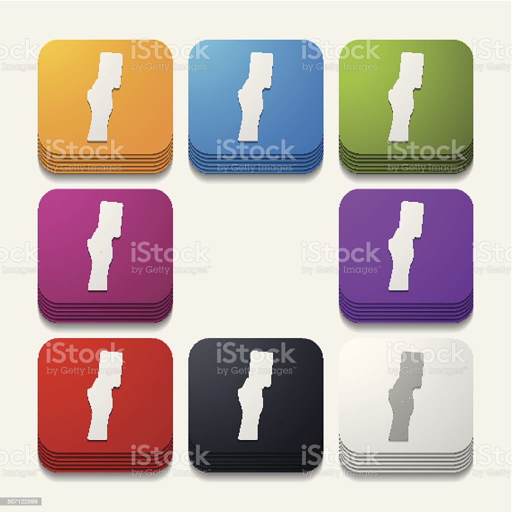 square button: card royalty-free stock vector art
