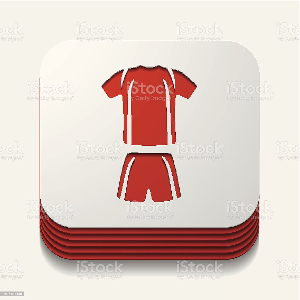 square button: Football clothing royalty-free stock vector art