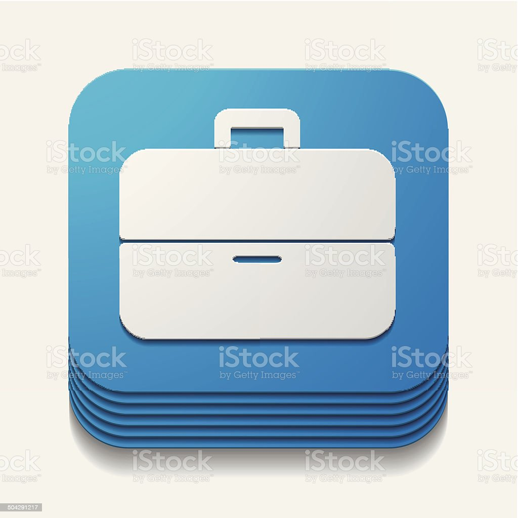 square button: portfolio royalty-free stock vector art
