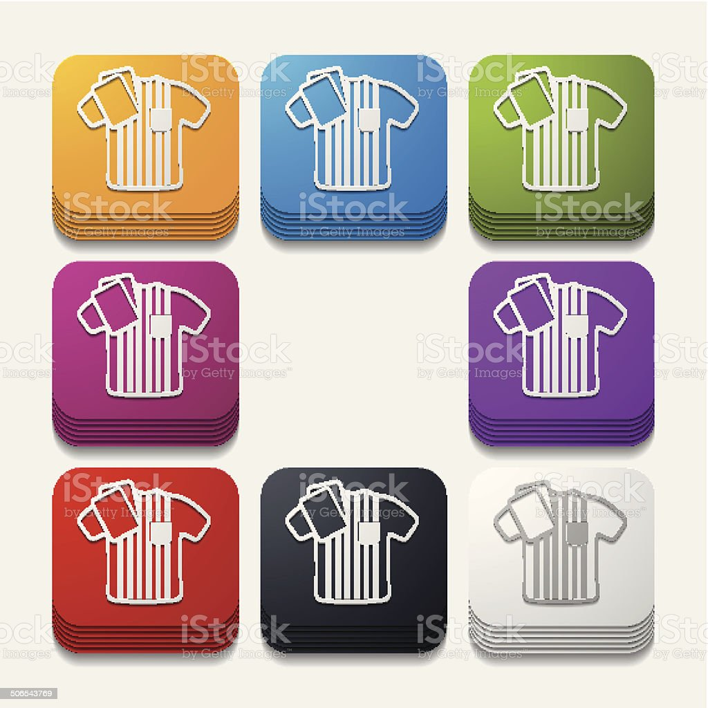 square button: referee royalty-free stock vector art