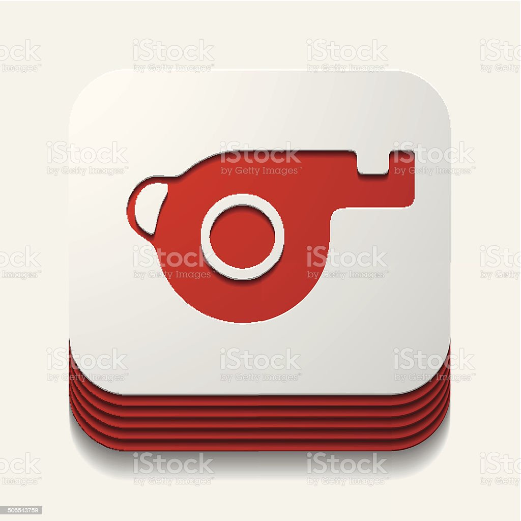 square button: whistle royalty-free stock vector art