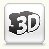 Square Button with 3D royalty free vector art