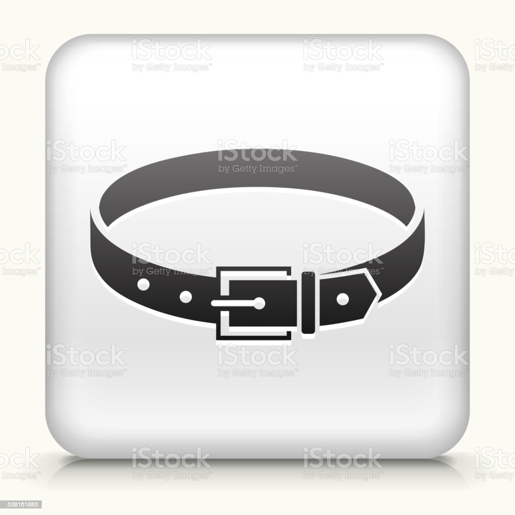 Square Button with Belt royalty free vector art vector art illustration
