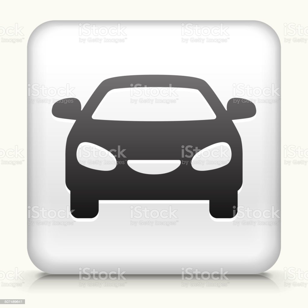 Square Button with Car royalty free vector art vector art illustration