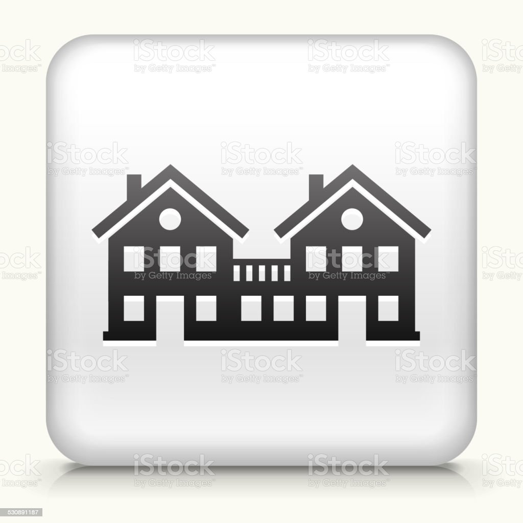 Square Button with Condos royalty free vector art vector art illustration