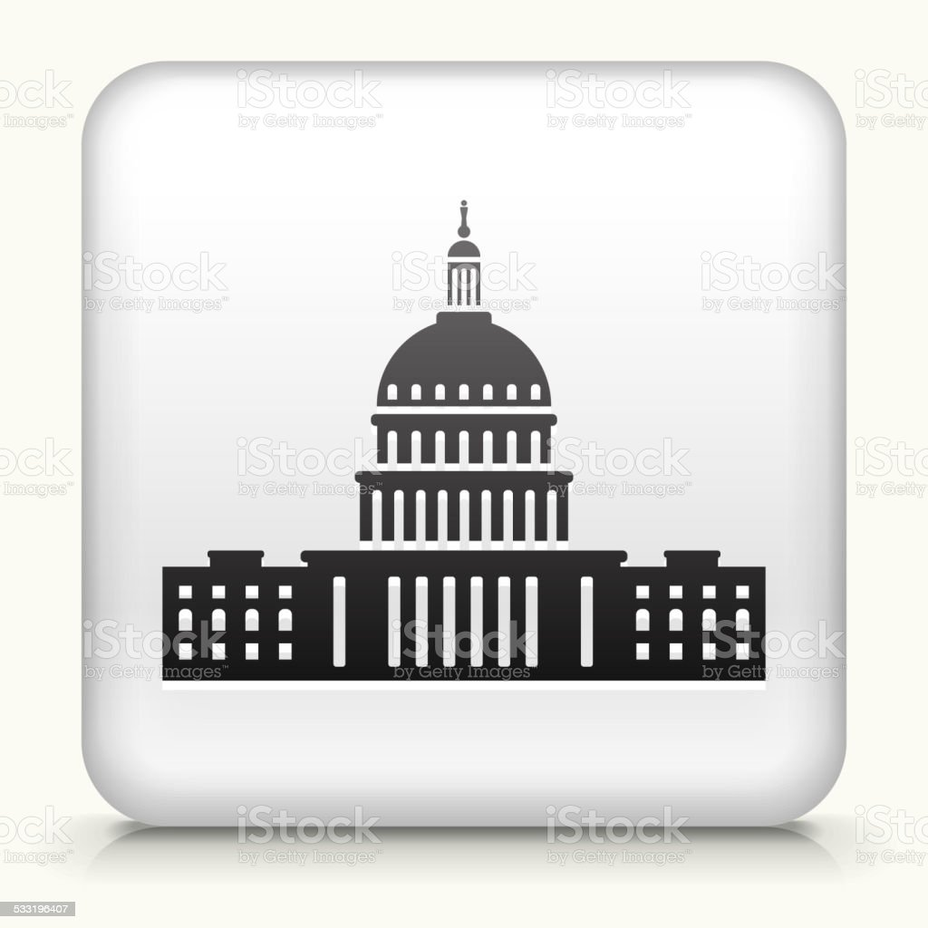 Square Button with Congress royalty free vector art vector art illustration