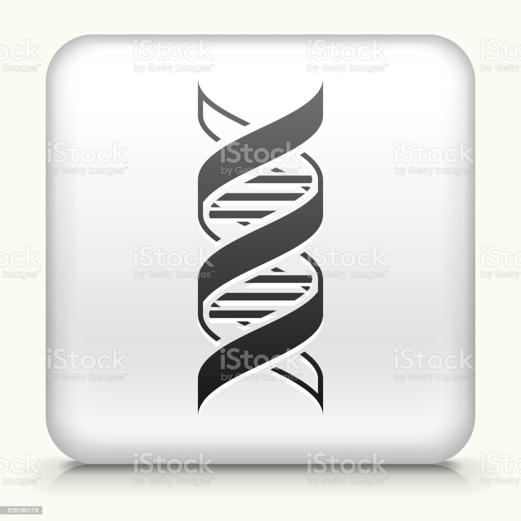 Square Button with DNA royalty free vector art vector art illustration