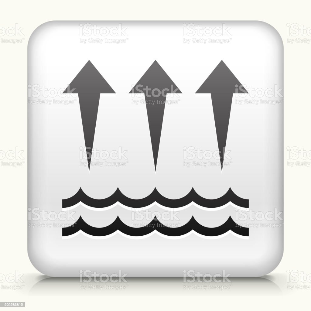 Square Button with Evaporation royalty free vector art vector art illustration