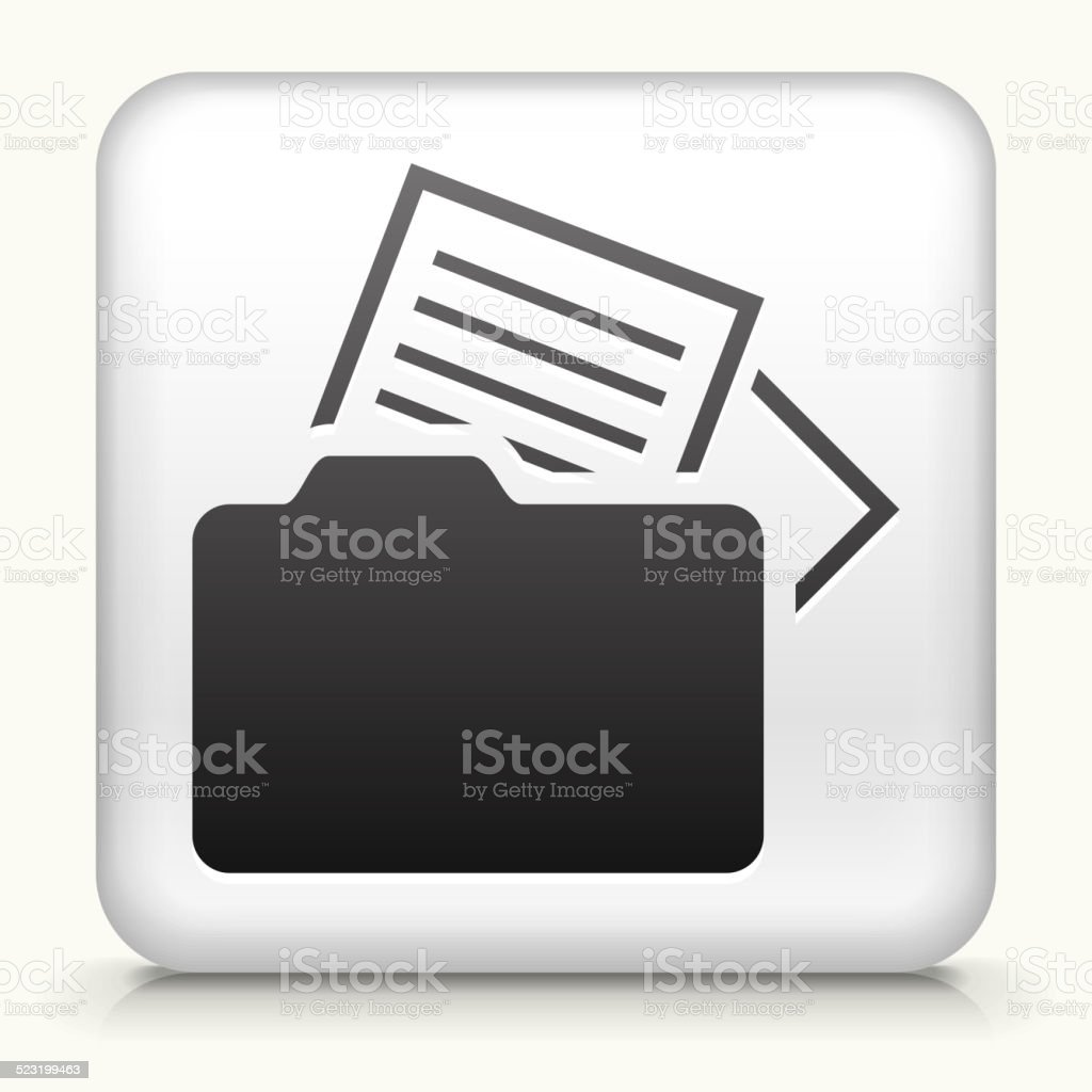 Square Button with Files royalty free vector art vector art illustration