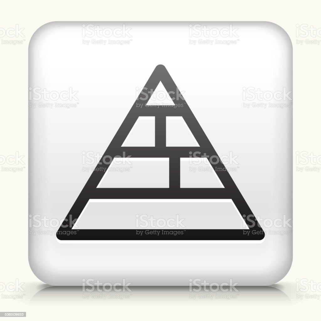 Square Button with Food Pyramid vector art illustration