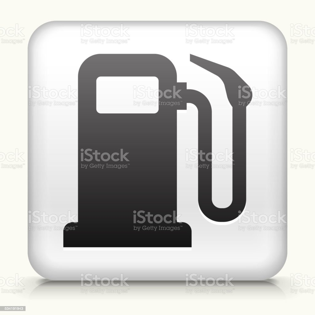 Square Button with Gas Pump vector art illustration