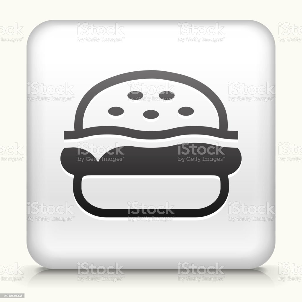 Square Button with Hamburger royalty free vector art vector art illustration