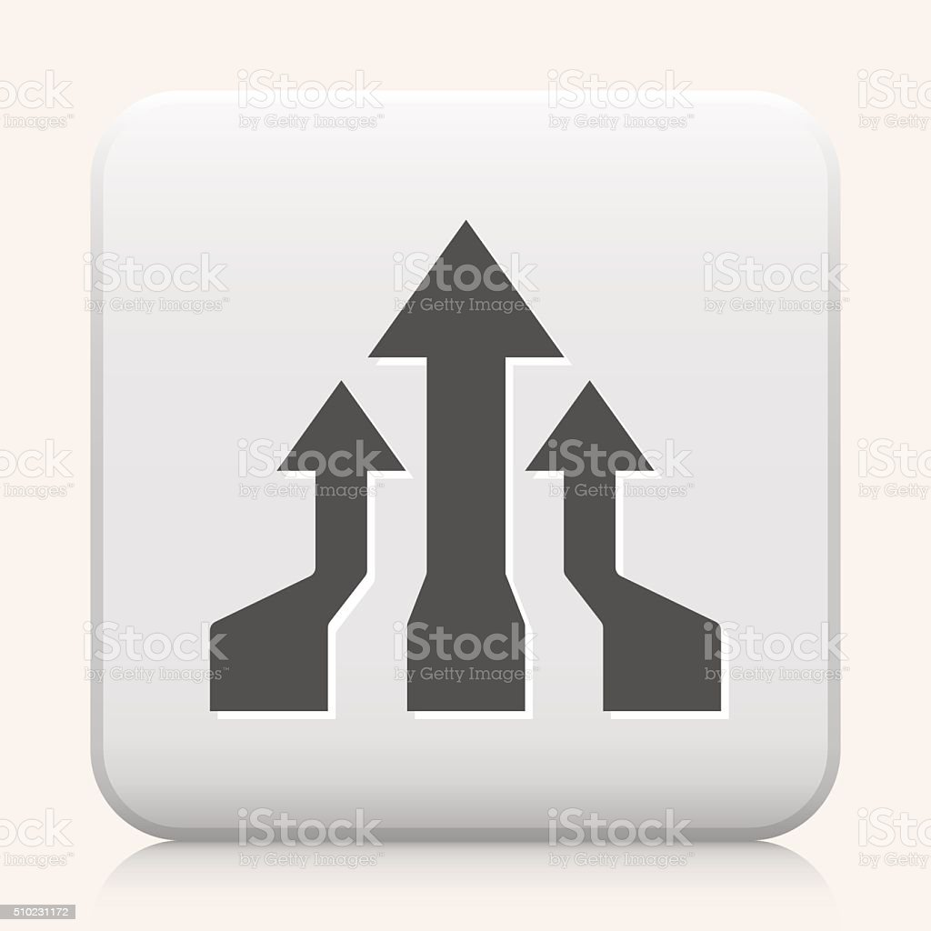 Square Button with Infographic Chart  royalty free vector icon vector art illustration