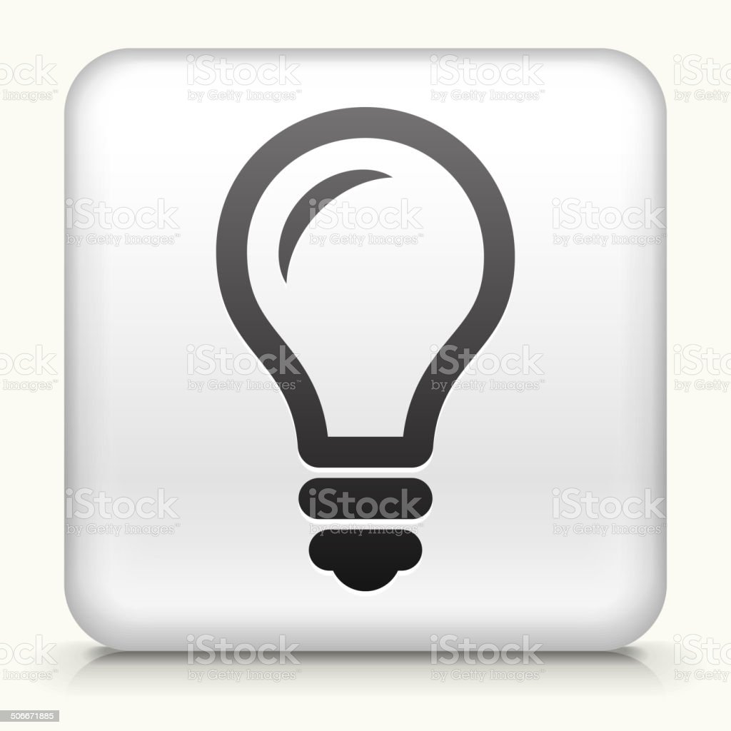 Square Button with Lightbubl royalty free vector art vector art illustration